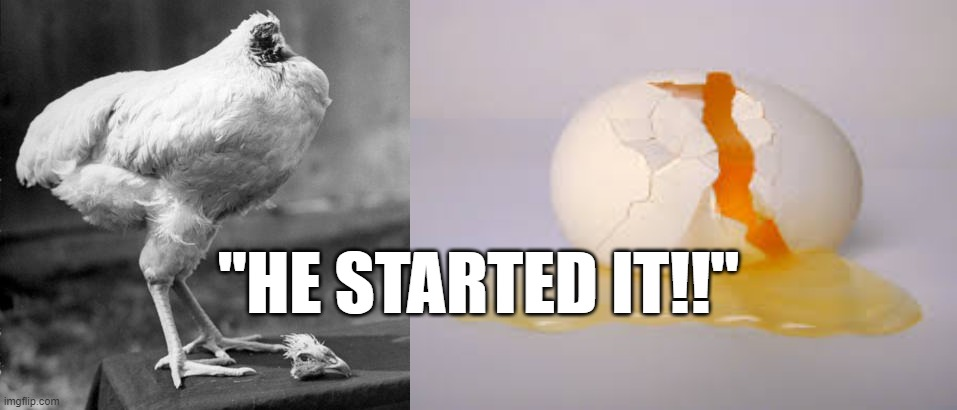 "CHICKEN VS EGG |  ""HE STARTED IT!!"" 