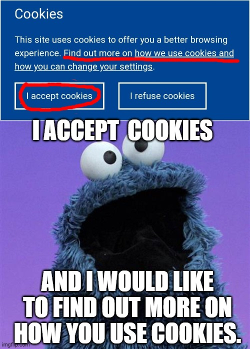 "Why would anyone ""refuse"" free cookies!? 