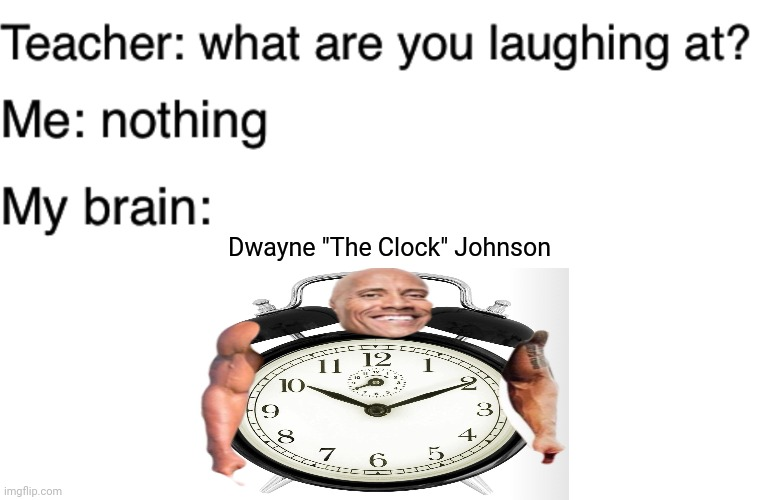 "Dwayne ""The Clock"" Johnson 
