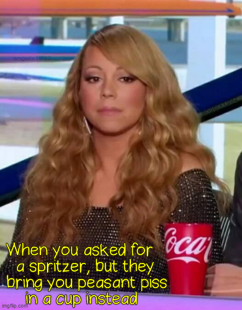 image tagged in mariah carey,coke,coca cola,spritzer,drinks,soda | made w/ Imgflip meme maker