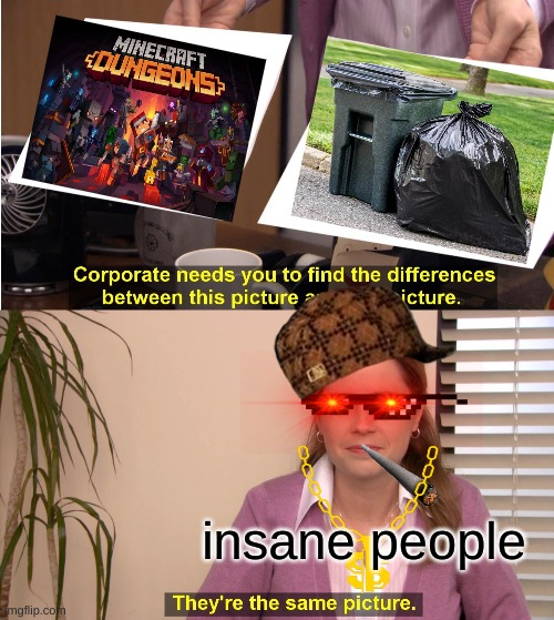 They're The Same Picture |  insane people | image tagged in memes,they're the same picture | made w/ Imgflip meme maker