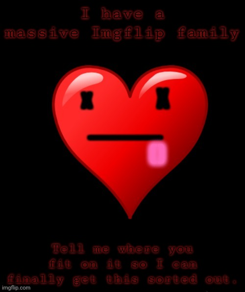 Tell me who's kid who are,if you're married,who youre married to ect. |  I have a massive Imgflip family; Tell me where you fit on it so I can finally get this sorted out. | image tagged in coolish announcement,coolish,imgflip family,but im not coolish | made w/ Imgflip meme maker