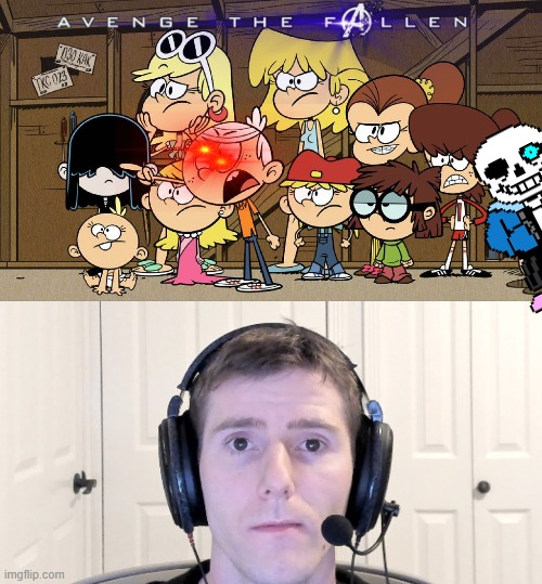 Bruh | image tagged in the loud house,sad linus,overexaggerated | made w/ Imgflip meme maker
