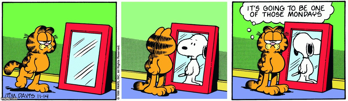 image tagged in snoopy,garfield,crossover,comics/cartoons | made w/ Imgflip meme maker
