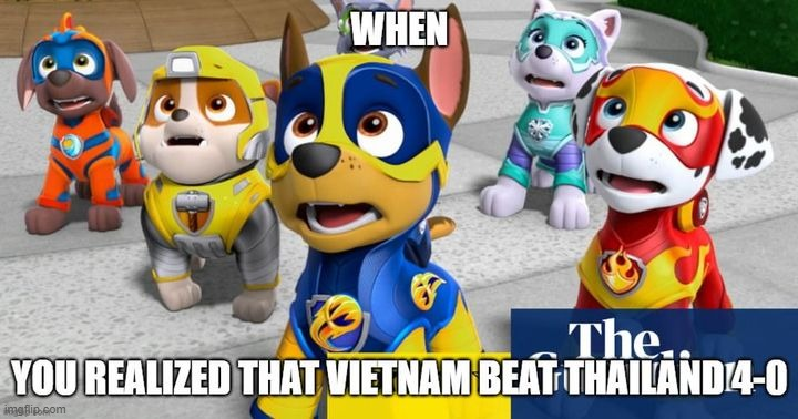 Vietnam 4-0 | image tagged in paw patrol,lol so funny,lol,vietnam,champion | made w/ Imgflip meme maker