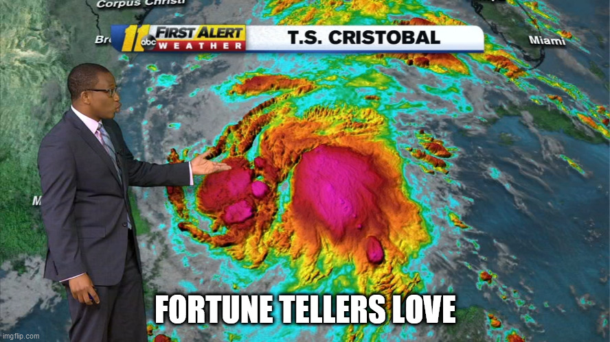 Cristobal |  FORTUNE TELLERS LOVE | image tagged in tropical storm,cristobal,fortune teller,2020 | made w/ Imgflip meme maker