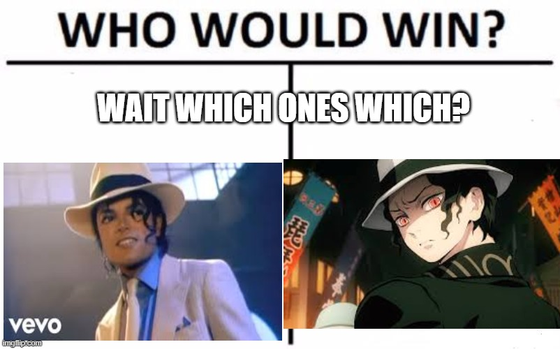 Who Would Win? |  WAIT WHICH ONES WHICH? | image tagged in memes,who would win,anime,michael jackson is in anime,muzan kibutsuji,muzan kibutsuji is michael jackson | made w/ Imgflip meme maker