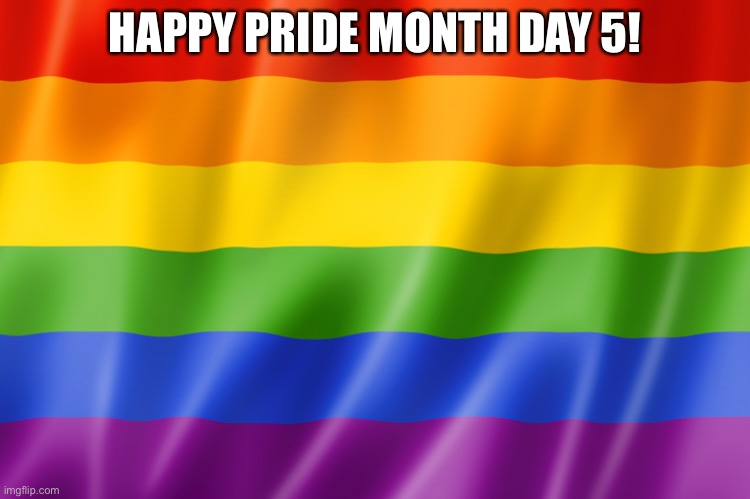 Yay |  HAPPY PRIDE MONTH DAY 5! | image tagged in lgbtq,pride,yay | made w/ Imgflip meme maker