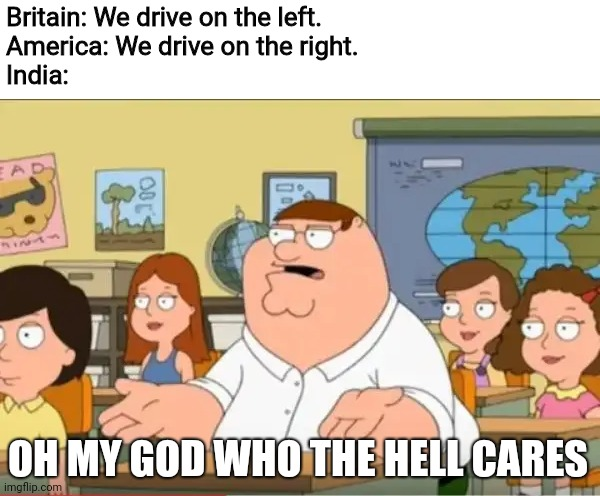 """Oh my god, who the hell cares"" from Family Guy 