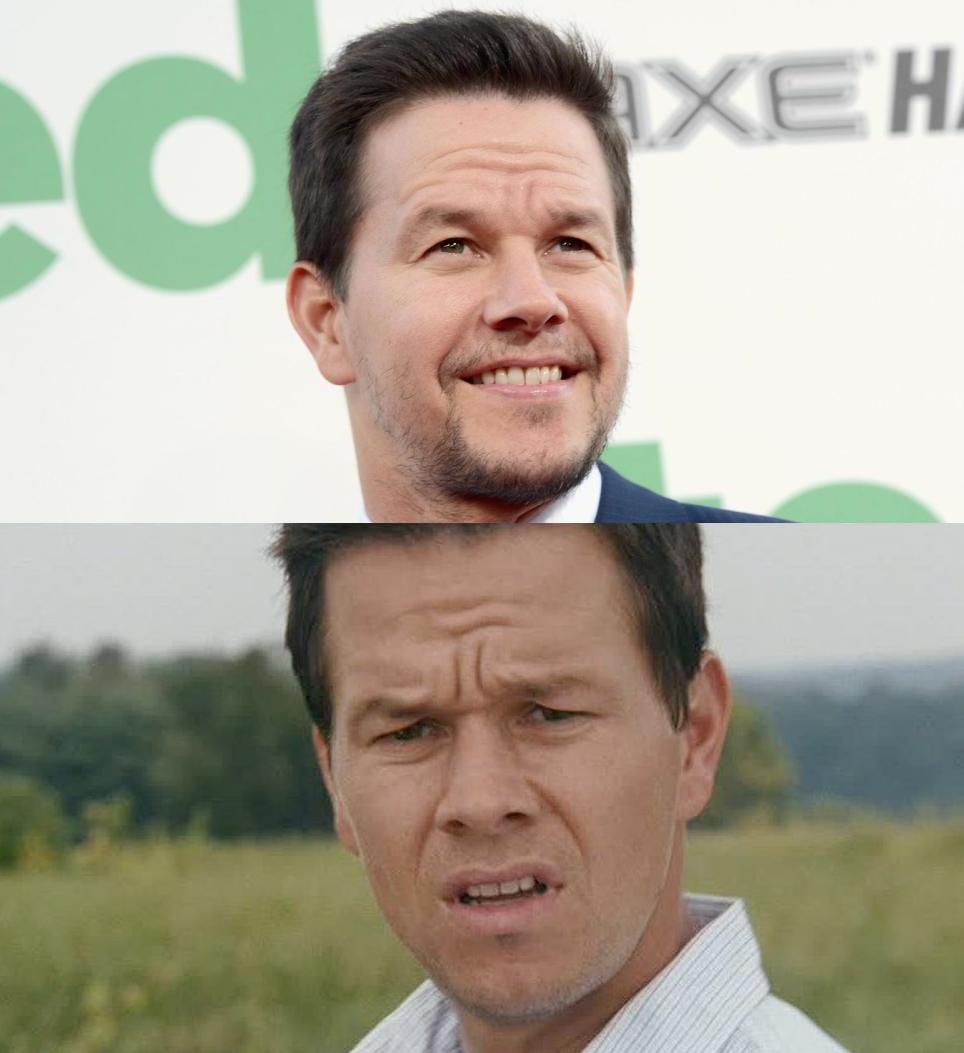 Happy Sad Mark Wahlberg Blank Template - Imgflip