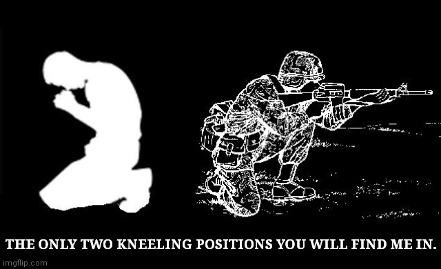 Take a knee |  THE ONLY TWO KNEELING POSITIONS YOU WILL FIND ME IN. | image tagged in take a knee | made w/ Imgflip meme maker