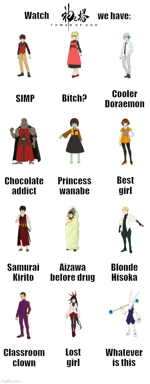 Welcome to Tower of God | image tagged in memes,anime,anime meme,anime girl,anime memes,anime is not cartoon,Animemes | made w/ Imgflip meme maker