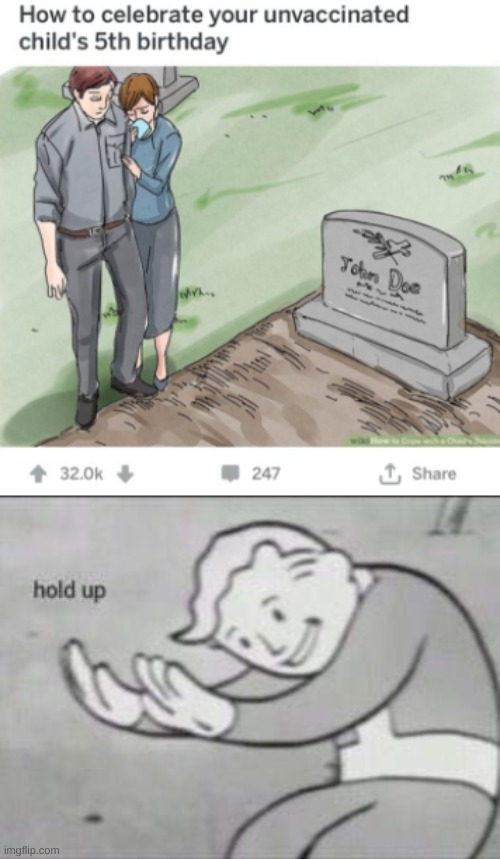 Wiki-how | image tagged in fallout hold up,wikihow,memes,dank memes,funny memes,antivax | made w/ Imgflip meme maker