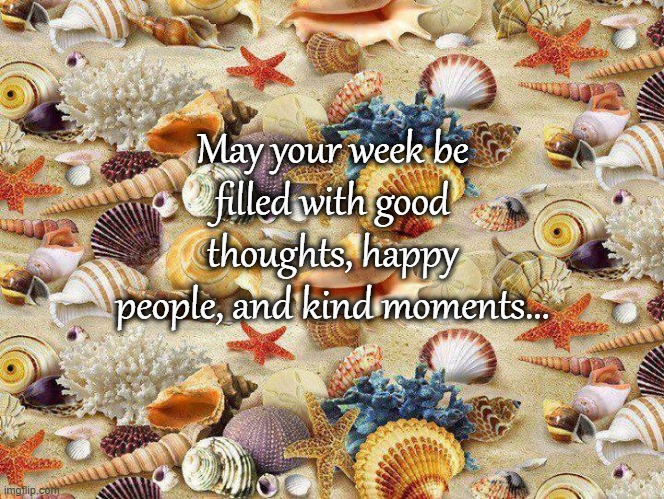 Have a good week... |  May your week be filled with good thoughts, happy people, and kind moments... | image tagged in thoughts,happy people,kind moments | made w/ Imgflip meme maker