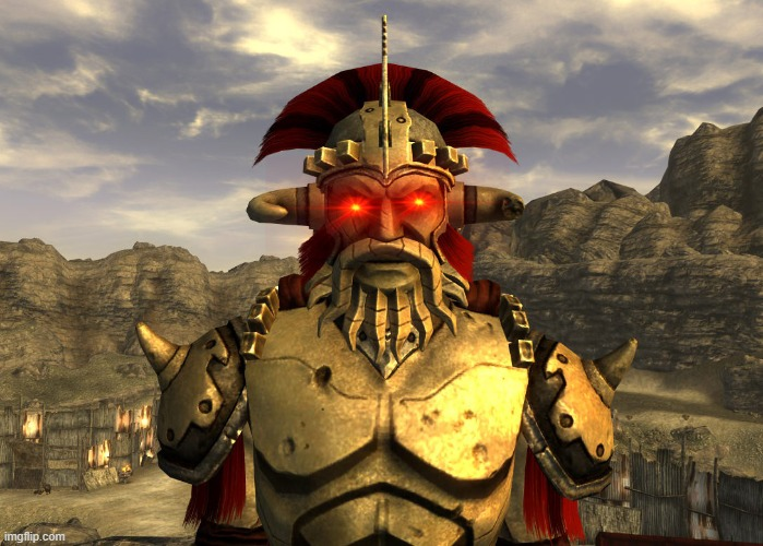 [CAESAR'S LEGION INTENSIFIES] | image tagged in caesar's legion,legate lanius,fallout new vegas | made w/ Imgflip meme maker