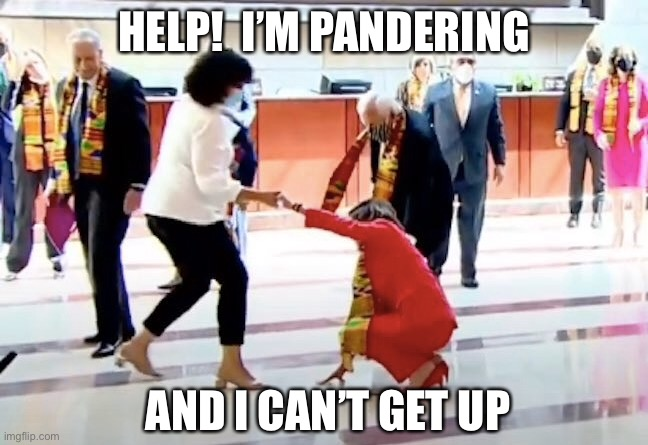 Help! I'm pandering...and I can't get up - Imgflip