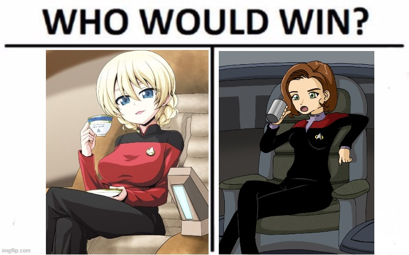 Who Would Win? | image tagged in memes,who would win,anime girl,anime,star trek | made w/ Imgflip meme maker