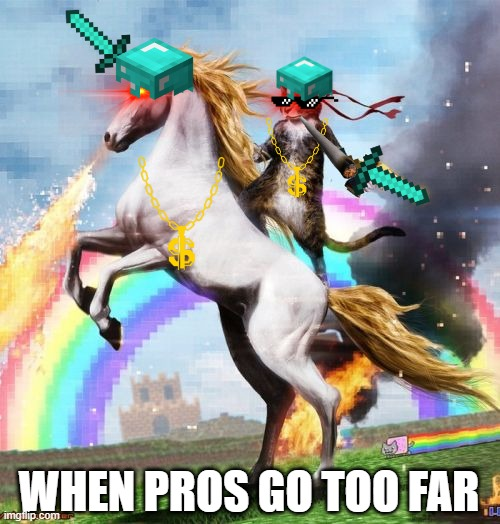 PRO GAMERS |  WHEN PROS GO TOO FAR | image tagged in memes,welcome to the internets | made w/ Imgflip meme maker