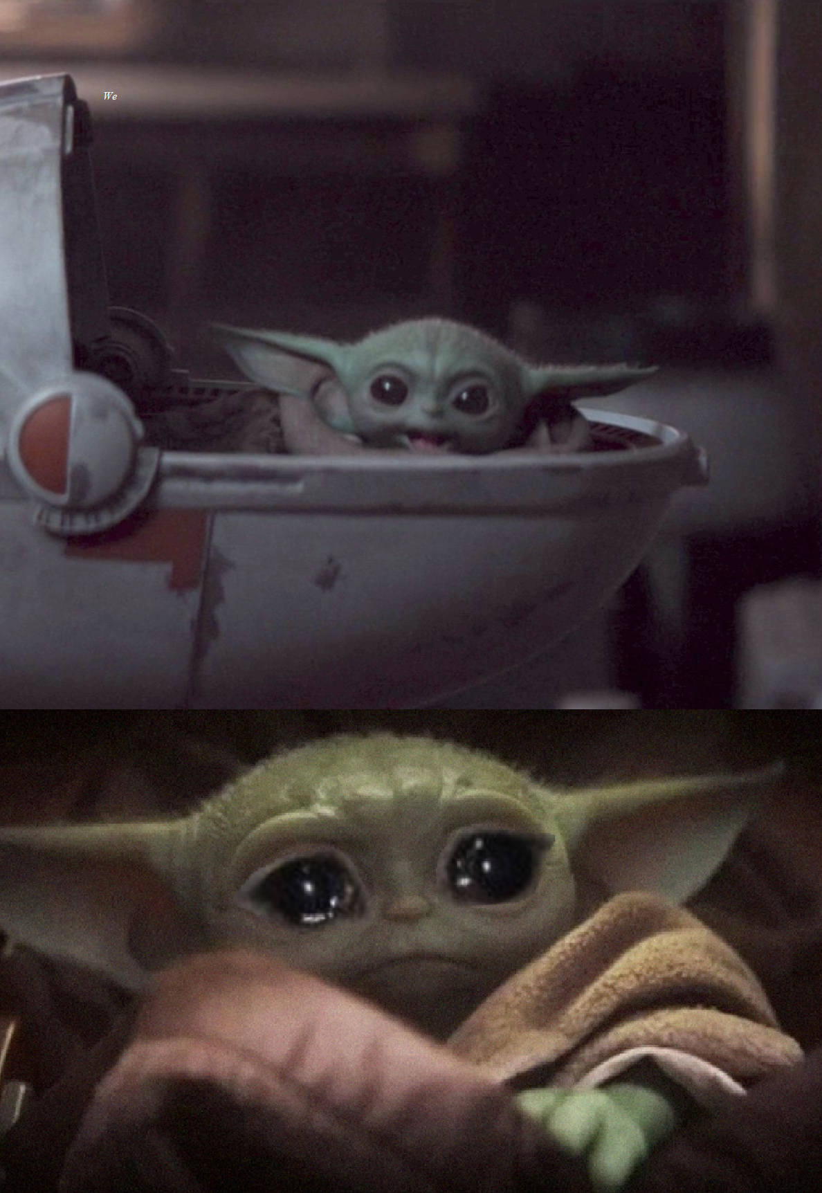 Happy then sad Baby Yoda (Star Wars) Blank Template - Imgflip