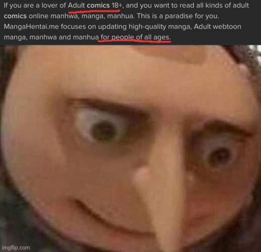 Oh gosh, dude! | image tagged in gru meme,funny,memes | made w/ Imgflip meme maker