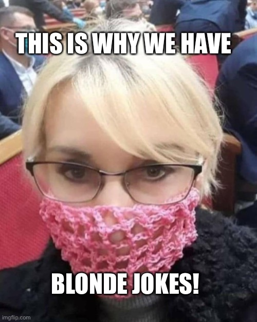 Blonde covid |  THIS IS WHY WE HAVE; BLONDE JOKES! | image tagged in dumb blonde,blondes,hot | made w/ Imgflip meme maker
