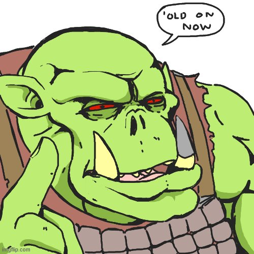 suspicious ork | image tagged in suspicious ork | made w/ Imgflip meme maker