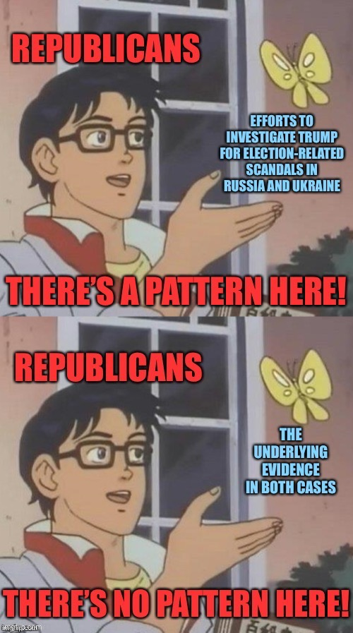 Can't seem to find the original meme in this stream. Here it is again. | image tagged in trump impeachment,impeach trump,impeachment,conservative logic,republicans,impeach | made w/ Imgflip meme maker