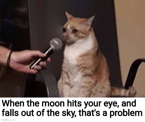 ~That's Amore~ |  When the moon hits your eye, and falls out of the sky, that's a problem | image tagged in memes,music,singing,the legend of zelda,inside joke,moon | made w/ Imgflip meme maker