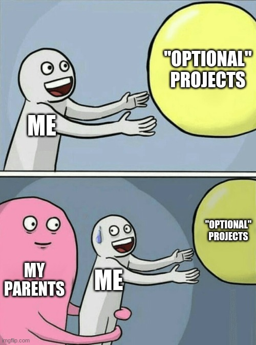 "My Life Basically |  ""OPTIONAL"" PROJECTS; ME; ""OPTIONAL"" PROJECTS; MY PARENTS; ME 