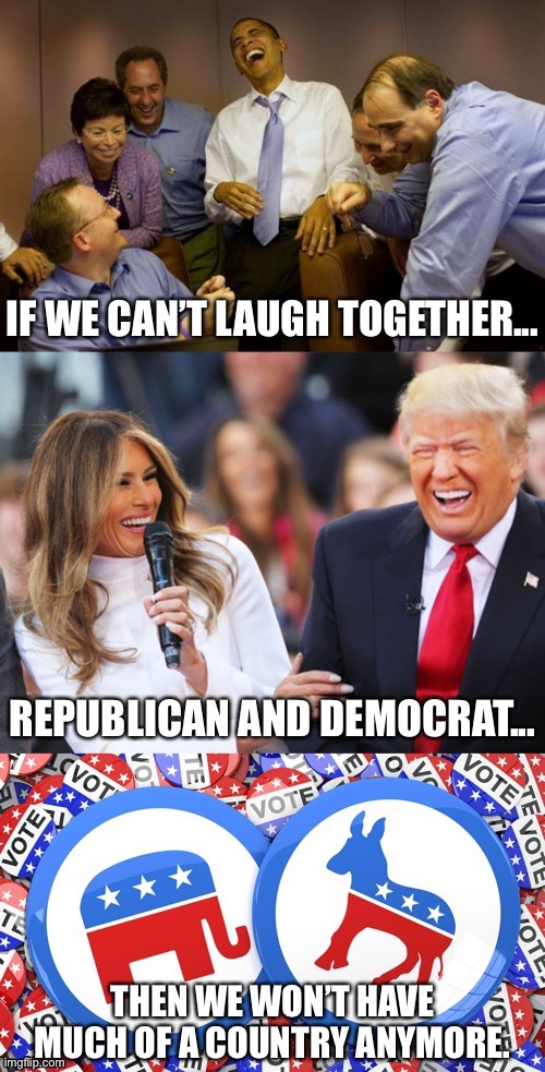 Farewell, politics. Whatever happens in November, remember we're all Americans. | image tagged in farewell,respect,laughing,america,patriotism,patriotic | made w/ Imgflip meme maker