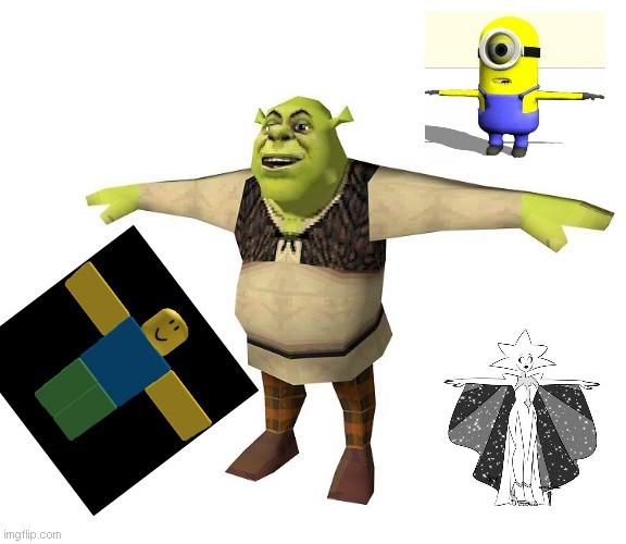 Shrek T Pose Memes Gifs Imgflip