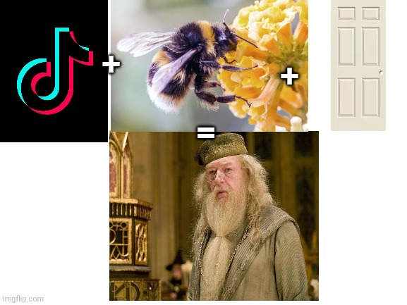 Dumb + bum[ble] + door = Dumbledore |  +; +; = | image tagged in harry potter meme | made w/ Imgflip meme maker