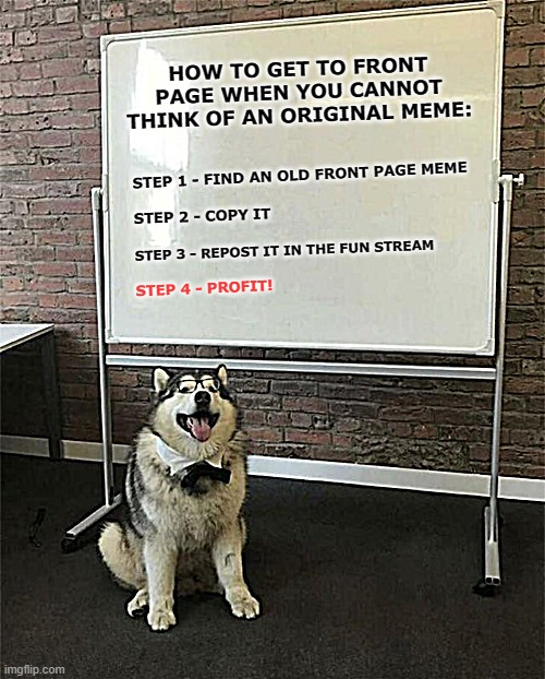 "Since Reposting Seems To Be the ""In"" Thing, Here's a Lesson on How To Do a Front Page Repost 