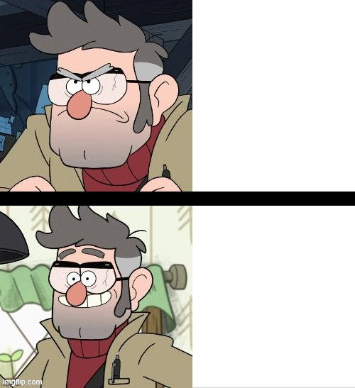 Ford Pines Meme Template | image tagged in ford pines,gravity falls,drake meme,funny,cartoon,stanford pines | made w/ Imgflip meme maker