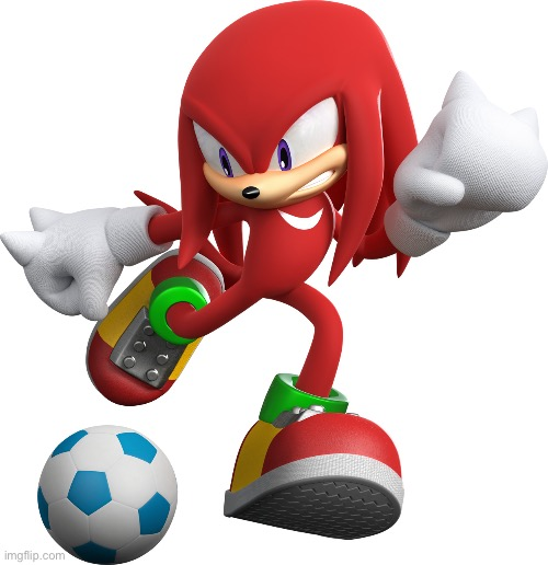 Knuckles Kicks [blank{ | image tagged in knuckles | made w/ Imgflip meme maker
