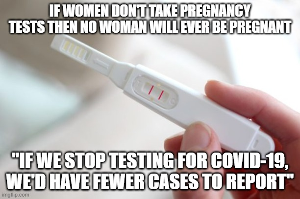 pregnancy test meme covid