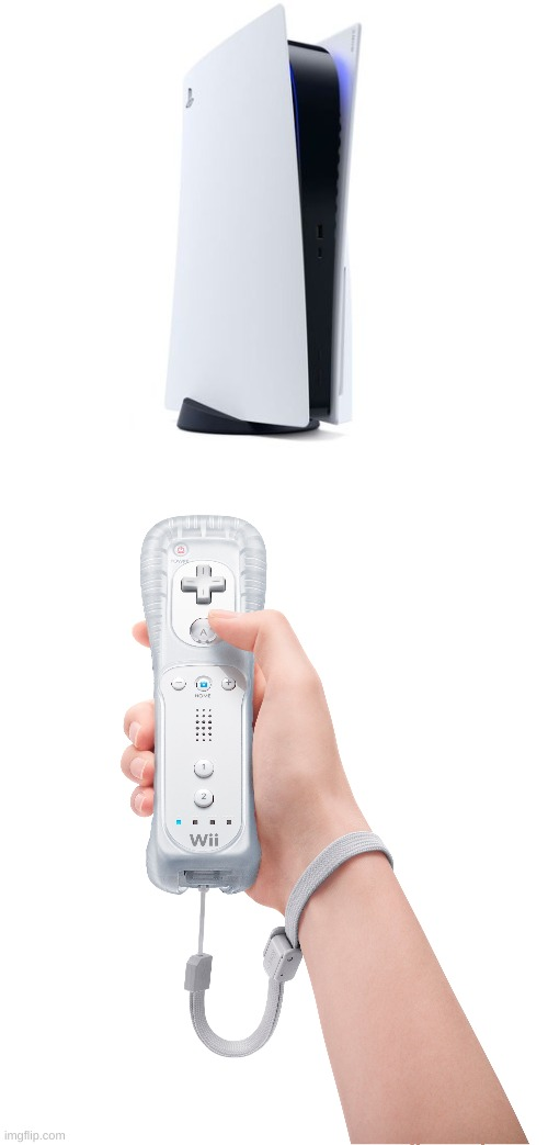 Introducing, The Playstation Wii | image tagged in memes,playstation,playstation 5,wii,gaming | made w/ Imgflip meme maker