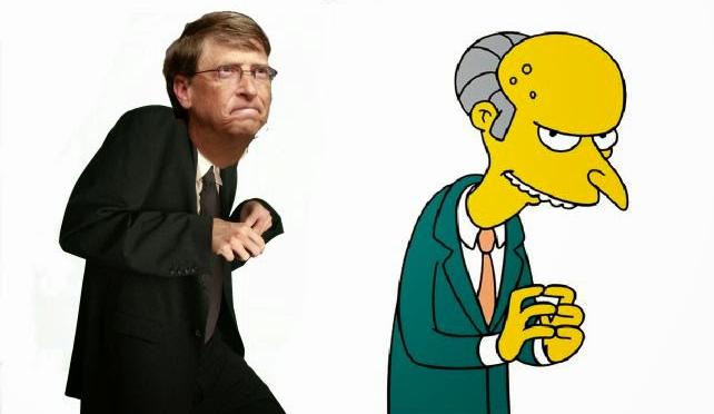 bill gates y el señor burns