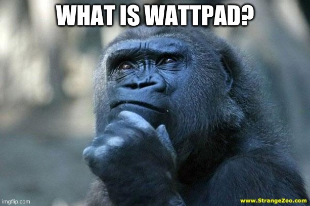 Deep Thoughts |  WHAT IS WATTPAD? | image tagged in deep thoughts | made w/ Imgflip meme maker
