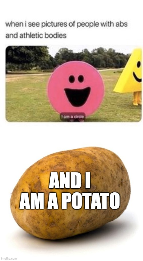 Pinterest, but I added the bottom one... |  AND I AM A POTATO | image tagged in i am a potato,chubby isn't fat,flabs protect my abs,pinterest | made w/ Imgflip meme maker