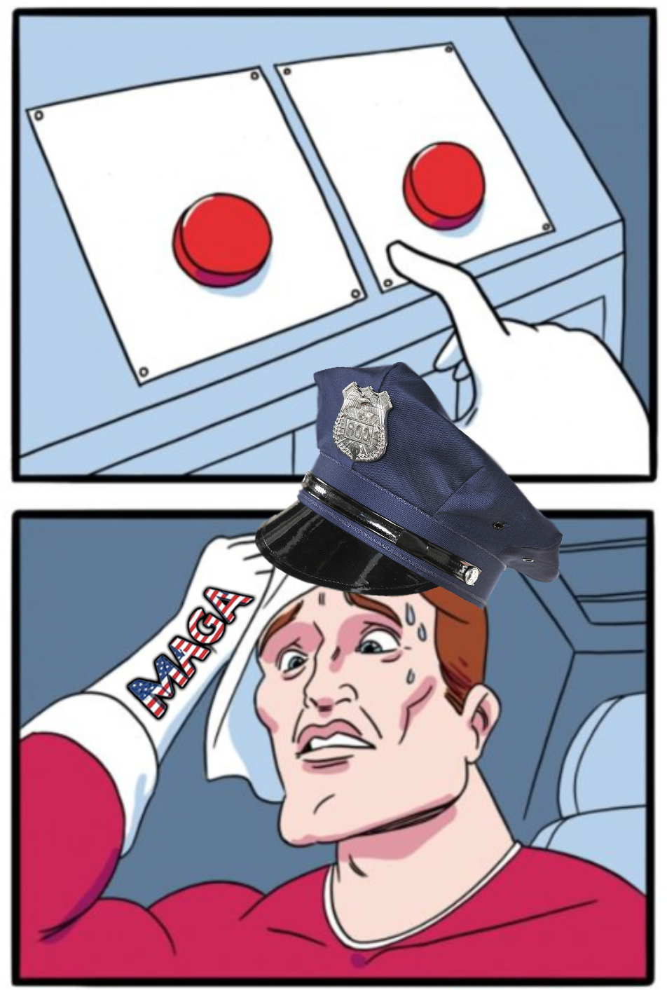 Police Two Buttons Blank Template - Imgflip