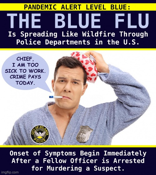 image tagged in pandemic alert level blue the blue flu | made w/ Imgflip meme maker