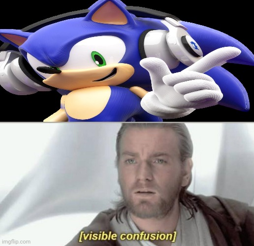 Image Tagged In Visible Confusion Sonic The Hedgehog Headphones Sonic Imgflip
