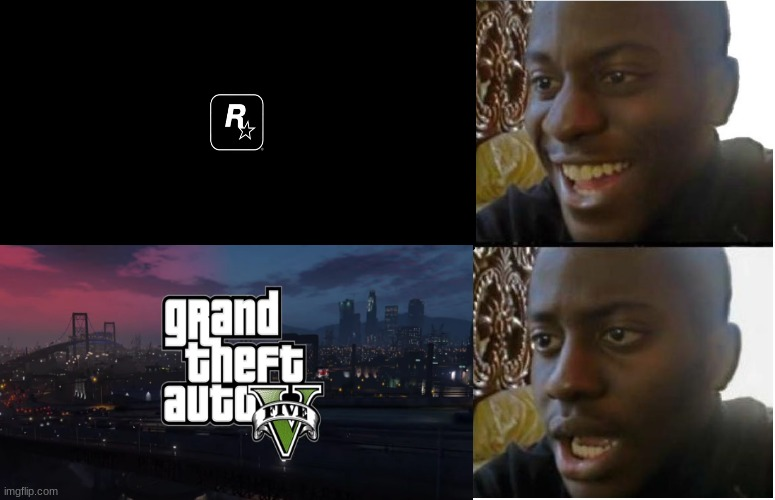smh | image tagged in disappointed black guy,rockstar,gta 5,ps5,relatable | made w/ Imgflip meme maker