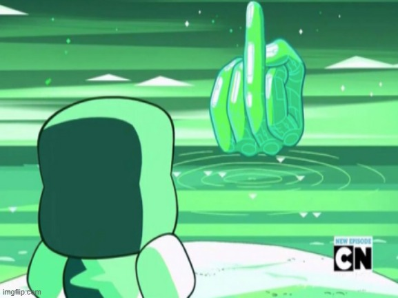 Please tell me this is photoshopped | image tagged in steven universe,photoshop,hand,middle finger | made w/ Imgflip meme maker