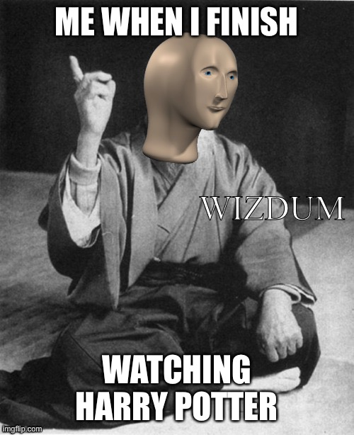 Wizdum |  ME WHEN I FINISH; WATCHING HARRY POTTER | image tagged in wizdum | made w/ Imgflip meme maker