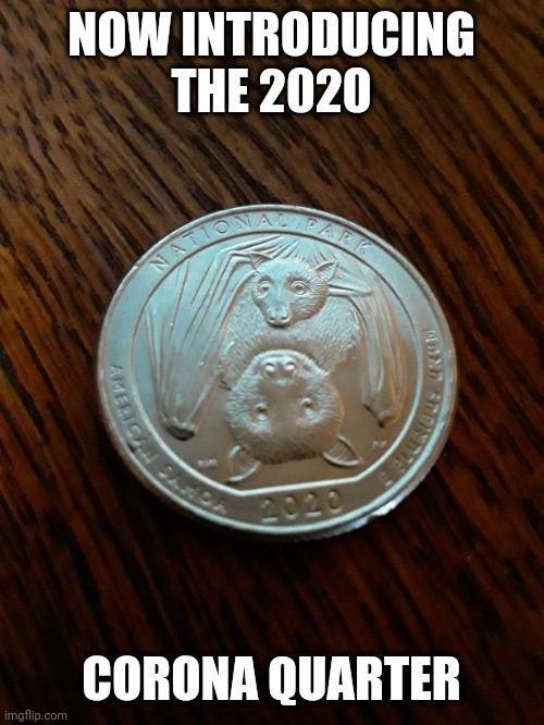 Corona quarter |  NOW INTRODUCING THE 2020; CORONA QUARTER | image tagged in corona | made w/ Imgflip meme maker