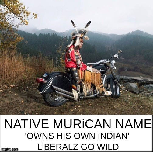 NATIVE MURiCAN NAME; 'OWNS HIS OWN INDIAN'; LiBERALZ GO WILD | image tagged in bbc,parliament,native american,the great awakening,so it begins,x x everywhere | made w/ Imgflip meme maker