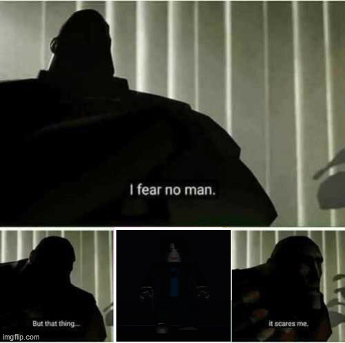 That TING, it scares me | image tagged in i fear no man,roblox | made w/ Imgflip meme maker