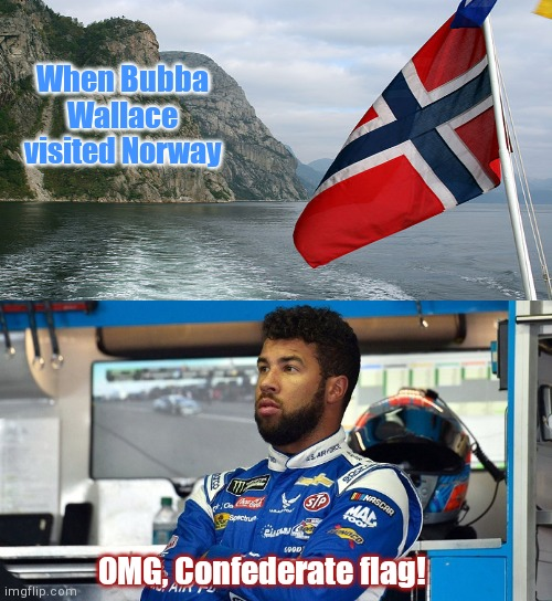 Bubba Wallace sees a flag - Imgflip